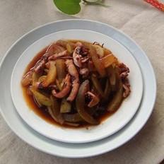 西瓜皮炒魷魚的做法
