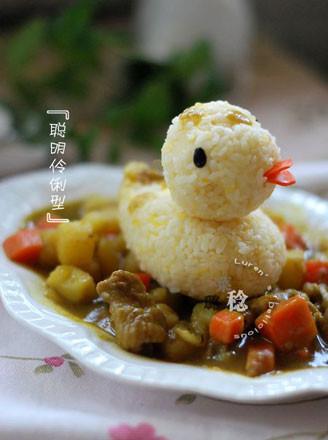 大黄鸭黄金咖喱饭