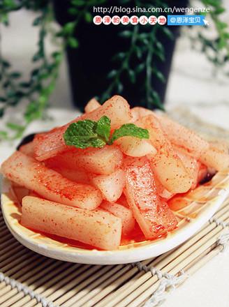 酸辣萝卜脆的做法