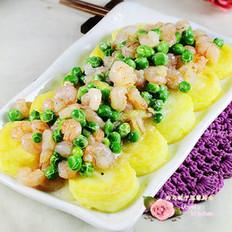豌豆虾仁烩玉子豆腐