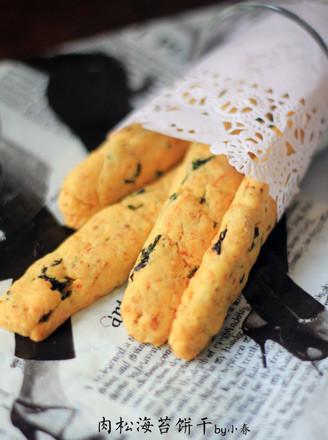 海苔肉松饼干的做法