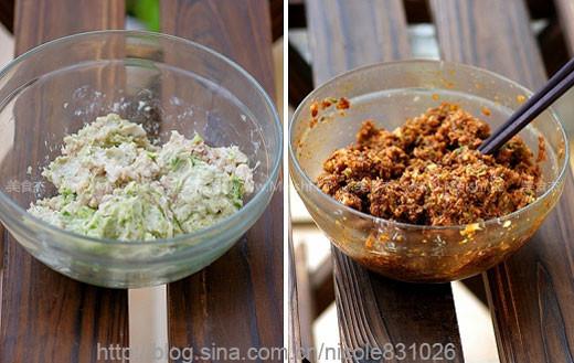 各种 视频 馅料/将馅料的材料用料理机打成肉馅,加入各种调料,用筷子顺着一个...