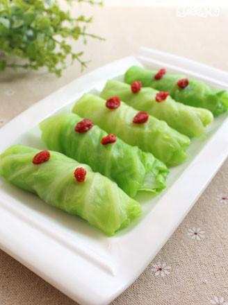 蚝香翡翠包菜卷