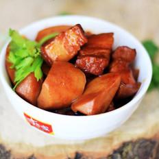 杏鲍菇韩味红烧肉