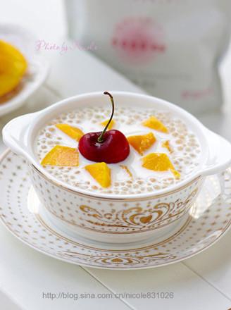奶香芒果西米露的做法