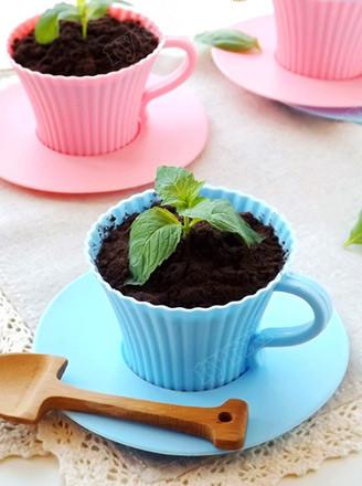 蓝莓酱酸奶盆栽的做法
