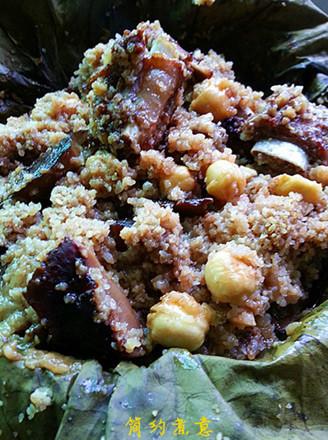 莲子排骨粉蒸肉的做法