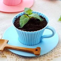 蓝莓酱酸奶盆栽