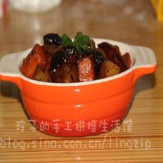 黑蒜红烧肉焖士豆