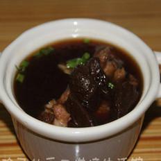 黑蒜香菇排骨汤