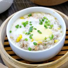 鲜虾玉米肉蒸蛋