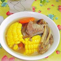 茶树菇龙骨煲玉米汤