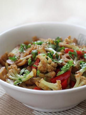 素版干锅花菜的做法