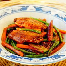 鸡翅烧豇豆