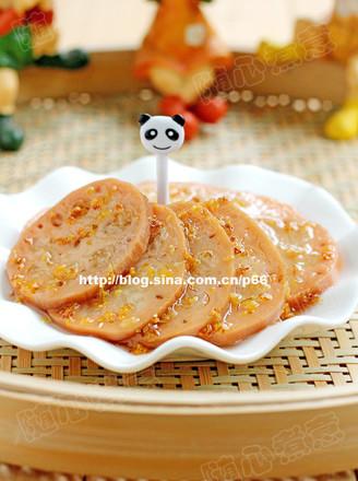 桂花糯米藕的做法