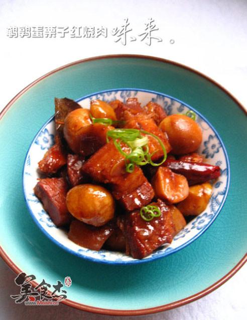 山水蛋栗子红烧肉鹌鹑面包机食谱图片