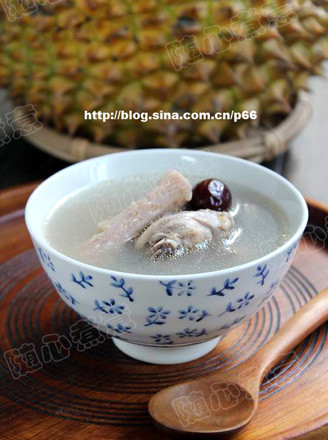 榴莲瓤煲鸡汤的做法