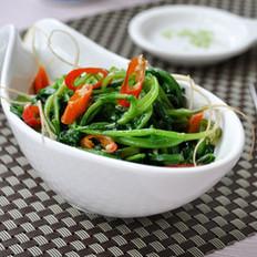 尖椒炒萝卜缨