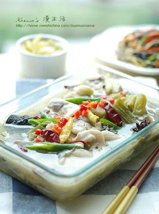 酸菜鱼片的做法