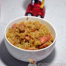 菜籽油脆皮肠炒饭