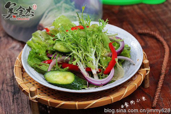 蔬菜沙拉的做法【步骤图】_菜谱_美食杰