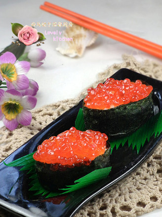 鱼子酱寿司的做法