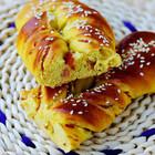 咖喱培根面包卷