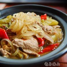 酸菜牛肉煲
