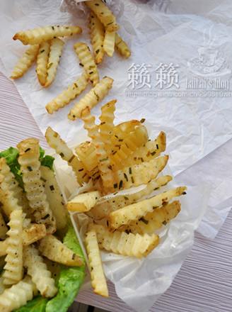 葱香薯棒棒的做法