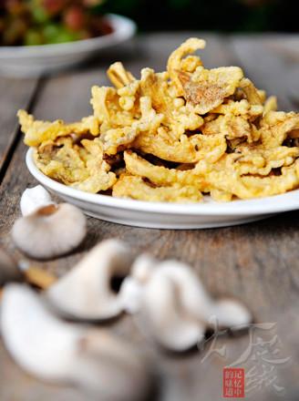 干炸蘑菇的做法
