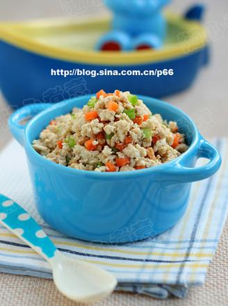 五彩鸡刨豆腐的做法