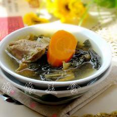 猪腱肉煲菜干汤
