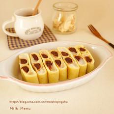 红豆麻薯锅饼