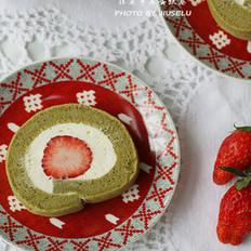 抹茶草莓卷