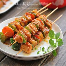 香煎时蔬鸡肉串