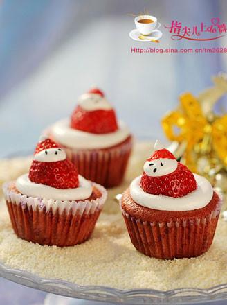打印圣诞老人纸杯蛋糕的做法(美食杰)