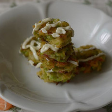 莴笋虾皮小蔬饼