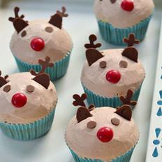 圣诞驯鹿小杯子蛋糕
