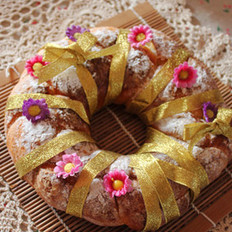 酸奶圣诞花环大面包