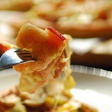 鲜虾烟肉披萨