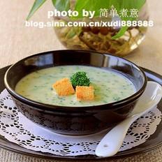 青花菜豆乳浓汤