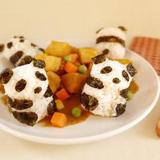 咖喱酱熊猫饭团