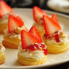 草莓山药挞