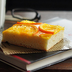 清新香橙面包
