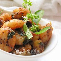 柠檬黑椒虾仁
