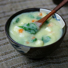 玉米豆花汤