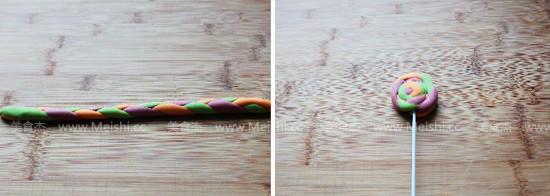 彩虹棒棒糖馒头的做法