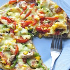 腊肠蘑菇披萨