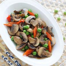 口蘑炒豌豆