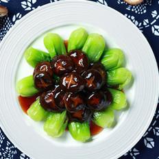 蚝油鲜菇扒菜胆